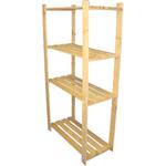 150 cm x 80 cm x 29 cm 4 Holzböden Holzregal für Lebensmittel rostfrei