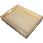 Serviertablett Holztablett Tablett aus Holz Servierplatte