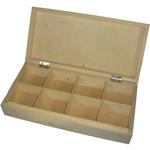 Sammlerkasten Schmuckschatulle Sammelbox Sichtlagerkasten mit 8 Fächer