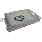 dekoratives Serviertablett Holztablett Tablett aus Holz Geschenkidee