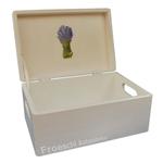Sehr schöne Holzkiste Kiste Spendenbox mit Deckel aus Holz