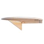 50 cm x 50 cm Ecktisch Klapptisch Tisch Eckregal Wandtisch aus Holz