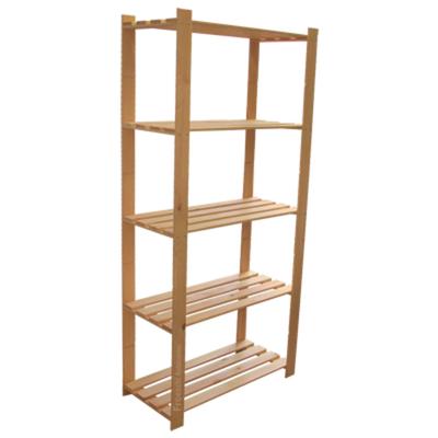 170 x 80 x 37 cm 5 Holzböden großes Holzregal