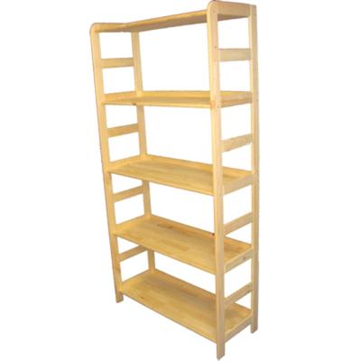 166 cm x 83 cm x 33 cm 5 Böden schönes Holzregal für Wohnraum o Büro