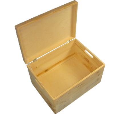 holzkiste kiste aufbewahrungsbox mit deckel aus holz. Black Bedroom Furniture Sets. Home Design Ideas