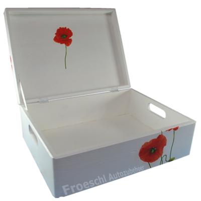 Allzweckkiste Holzkiste Kiste Aufbewahrungsbox mit Deckel aus Holz