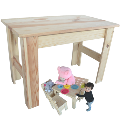 kindertisch holztisch spieltisch maltisch kiefer massiv tisch aus holz. Black Bedroom Furniture Sets. Home Design Ideas
