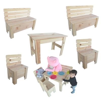 kindertisch kinderbank kinderstuhl holzbank sitzgruppe tisch bank holz. Black Bedroom Furniture Sets. Home Design Ideas