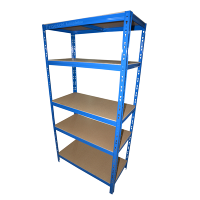 lager regal 5 b den fachbelastung 175 kg steher 2 blau. Black Bedroom Furniture Sets. Home Design Ideas