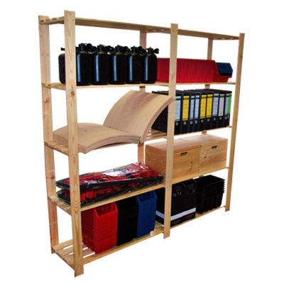 großes Lager Regal für Ordner Archiv Keller Büro Werkstatt Waren aus Holz 1#