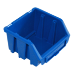 116 x 75 x 112 mm blaue Sichtlagerbox Stapelbox Sichtlagerkasten Gr.1