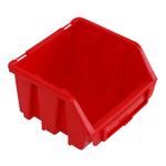 116 x 75 x 112 mm rote Sichtlagerbox Stapelkiste Sichtlagerkasten Gr.1