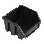 116 x 75 x 112 mm schwarze Sichtlagerbox Stapelbox Lagerkasten Gr.1