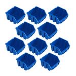 10 blaue Schütten Sichtlagerbox Lagerbox Lagersichtboxen Gr. 1