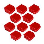 10 rote Schütten Sichtlagerboxen Lagerbox Lagersichtboxen Gr. 1