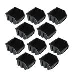 10 schwarze Lagerboxen Stapelkiste Lagerkiste Stapelboxen Gr. 1