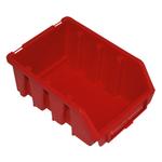 116 x 75 x 161 mm rote Sichtlagerbox Stapelkiste Sichtlagerkasten Gr.2