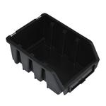 116 x 75 x 161 mm schwarze Sichtlagerbox Stapelbox Lagerkasten Gr.2