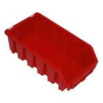 116 x 75 x 212 mm rot Sichtlagerbox Stapelkiste Sichtlagerkasten Gr.2L