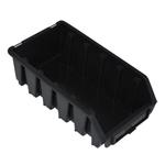116 x 75 x 212 mm schwarze Sichtlagerbox Stapelbox Lagerkiste Gr.2L