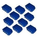 10 blaue kleine Sichtlagerbehälter Kleinteilebehälter Gr. 2