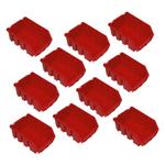 10 Kleinteilekisten Kleinteileboxen Sichtlagerkästen Stapelbox Gr. 2