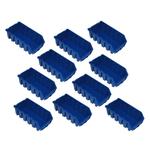 10 blaue Boxen Kleinteilebox Sichtlagerkästen Stapelboxen Größe 2L