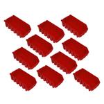 10 rote Kleinteilekisten Kleinteileboxen Lagersichtboxen Größe 2L