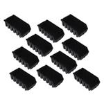 10 längliche schwarze Sichtlagerkästen Sichtlagerbox Lagerbox Gr. 2L