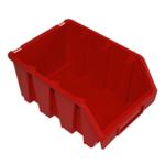 170 x 126 x 240 mm rote Schütte Box Lagerkiste Sichtlagerkasten Gr.3