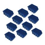 10er Set Sichtlagerkästen Sichtlagerbox Lagersichtboxen Größe Gr.3