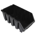 204 x 155 x 340 mm schwarz Schütte Lagersichtbox Kleinteilebox Gr.4