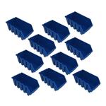 10 blaue Schütten Sichtlagerbox Lagerbox Lagersichtboxen Gr. 4