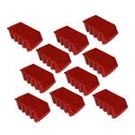 10 rote mittlere Kleinteileboxen Stapelboxen Lagerboxen Gr. 4