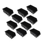 10 schwarze mittlere Sichtlagerkästen Sichtlagerbox Lagerbox Gr. 4