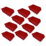 10 rote Kleinteilekästen Sichtlagerbox Lagerbox Lagersichtboxen Gr.5