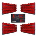 96 Kleinteile Schütten mit Wandhalterung plus Werkzeugwand