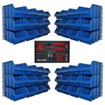 48 große Lagerkästen Lagersichtkasten Sichtlagerbox mit Wandhalter